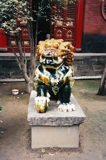 Male Foo Dog guarding General Guan Yu's Tomb