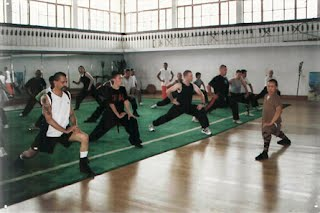 Training at Shao-lin Temple in 2005