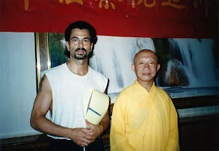 Si-Gung Frank and Monk Durin at Shao-lin Temple in 1995